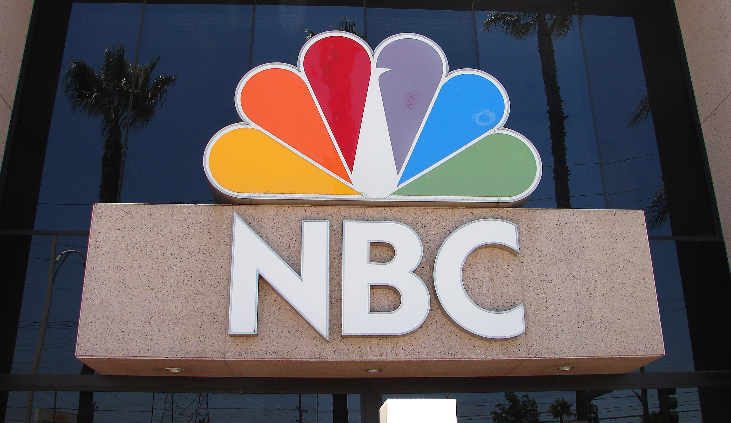 NBC Peacock sign on building