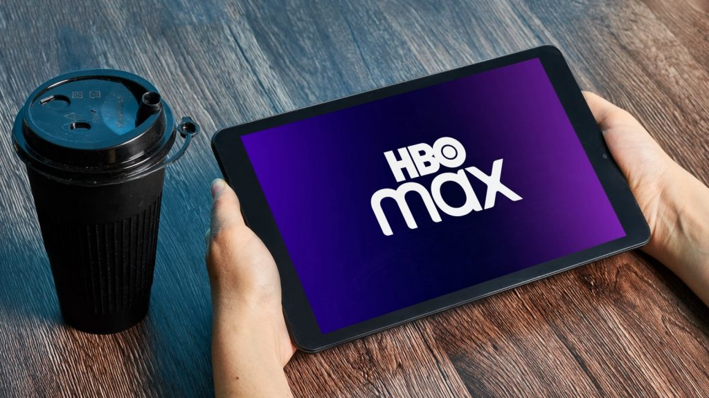 HBO Max on tablet