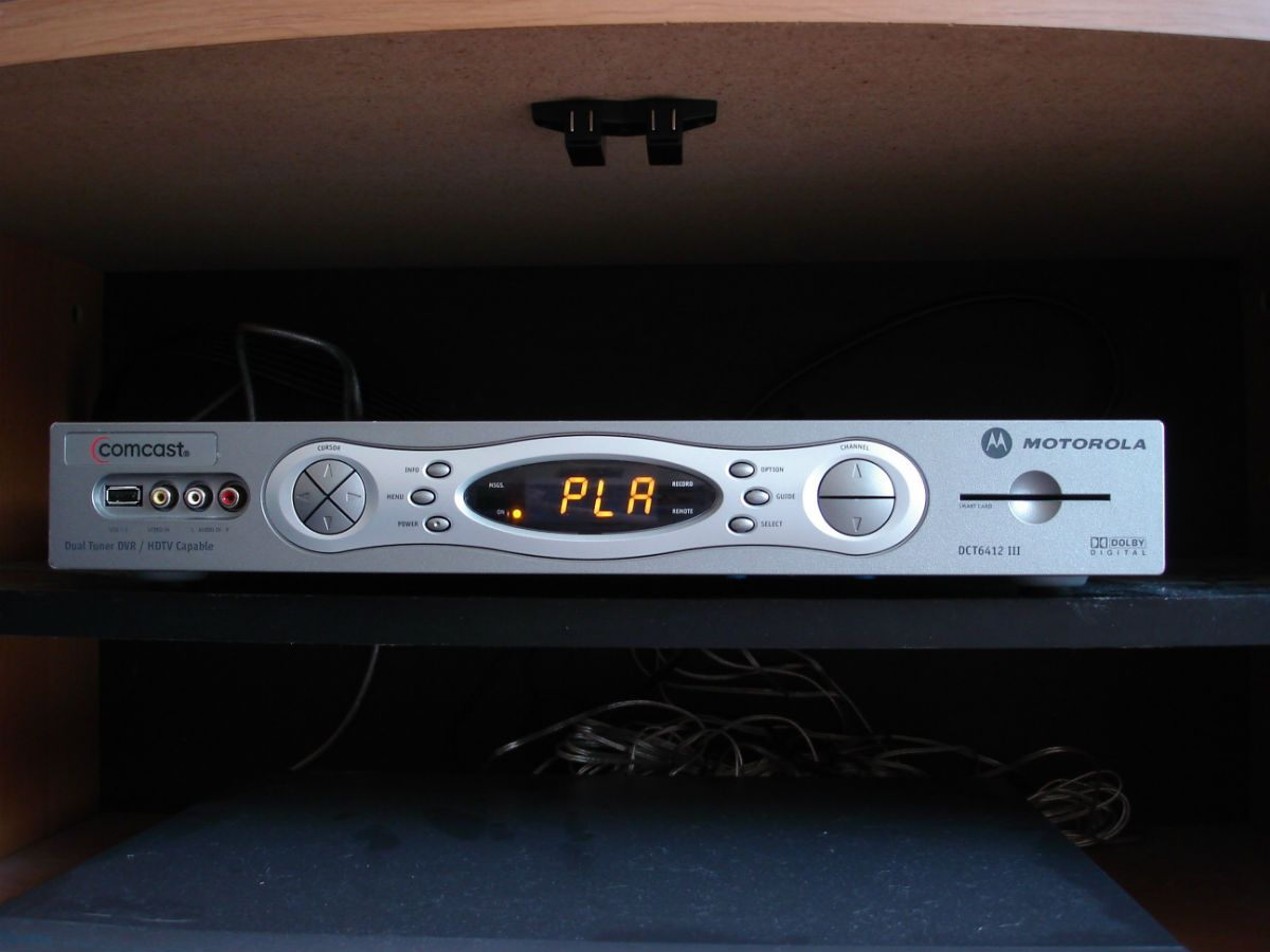 Comcast cable TV box