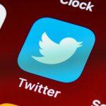 Twitter app on screen