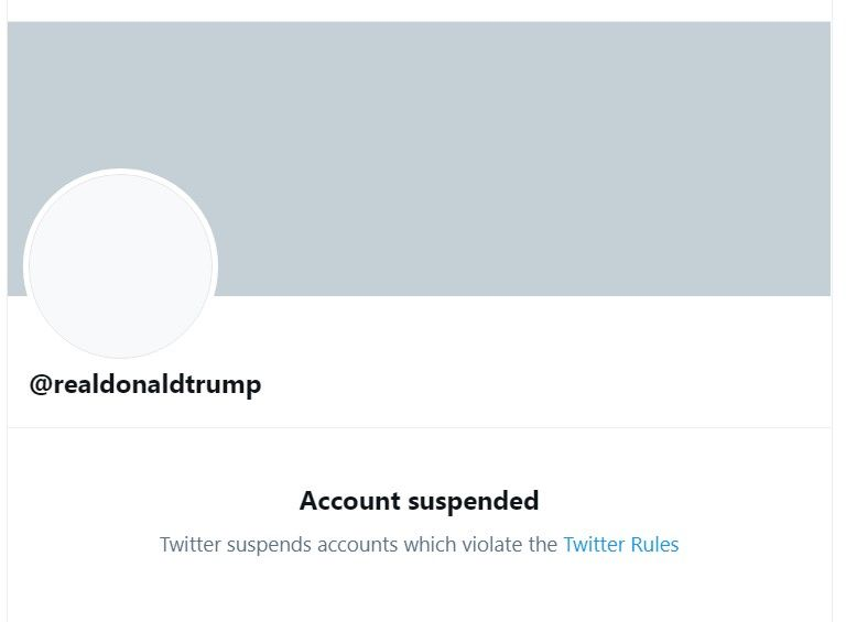 Donald Trump's deleted Twitter account