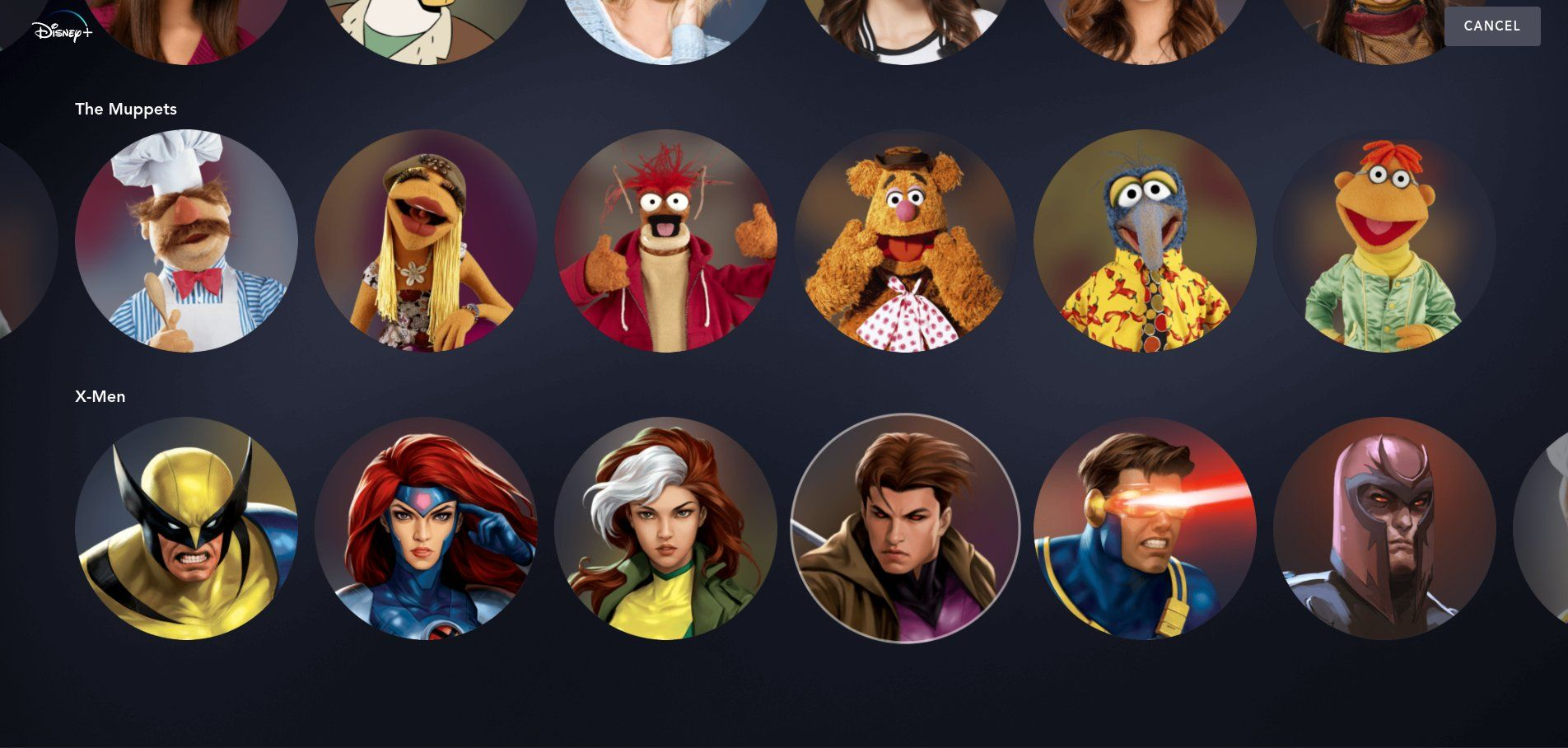 Disney+ avatars