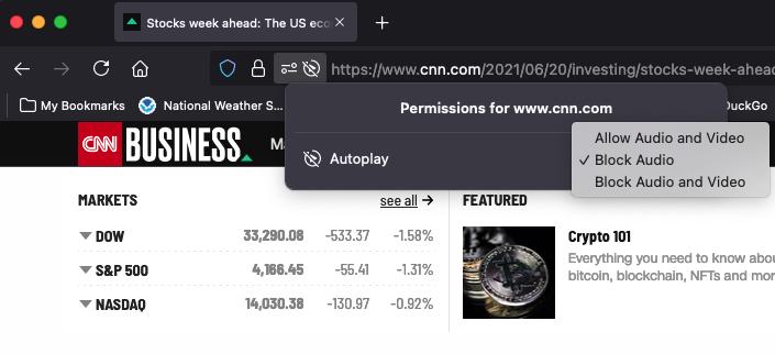 CNN website in Firefox