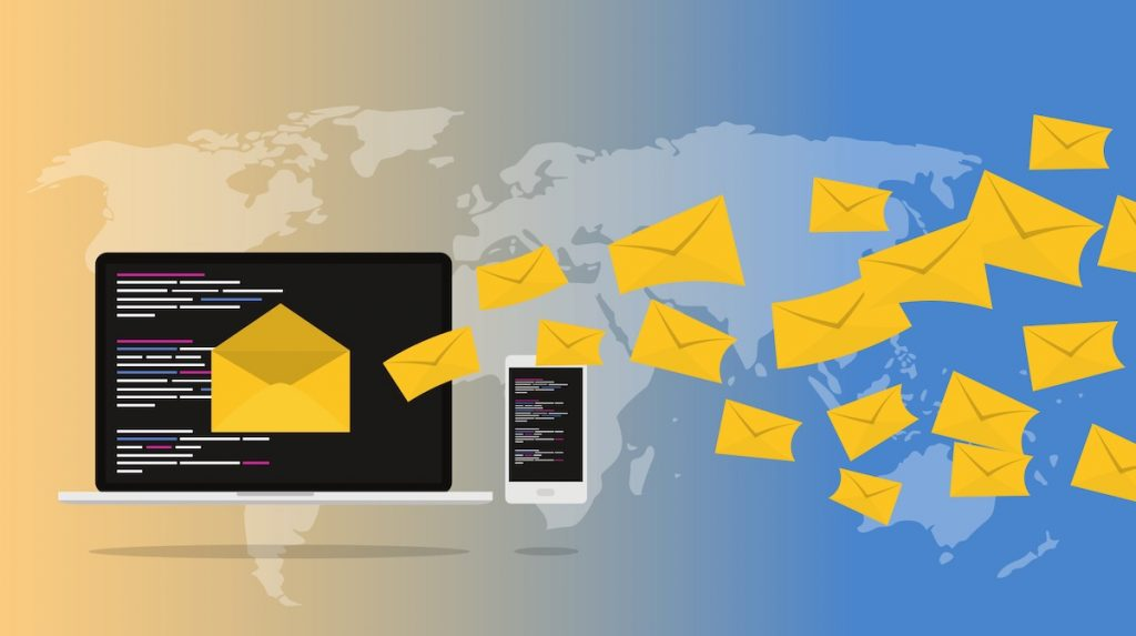Email, map of world