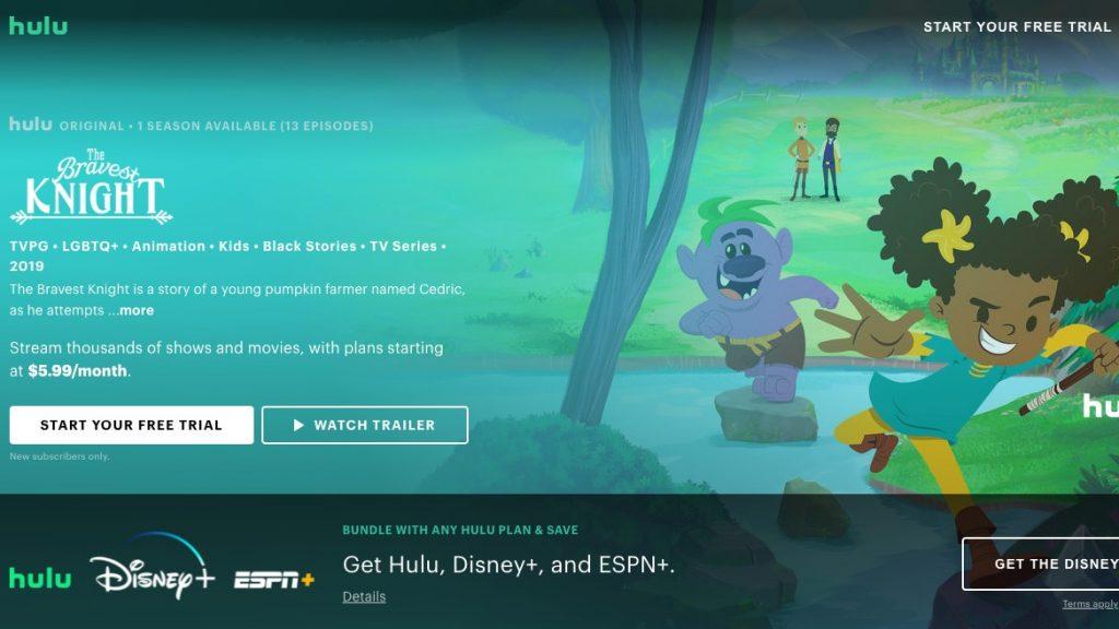 """""""The Bravest Knight"""" on Hulu"""