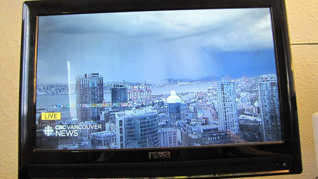 Over-the-air CBC TV broadcast